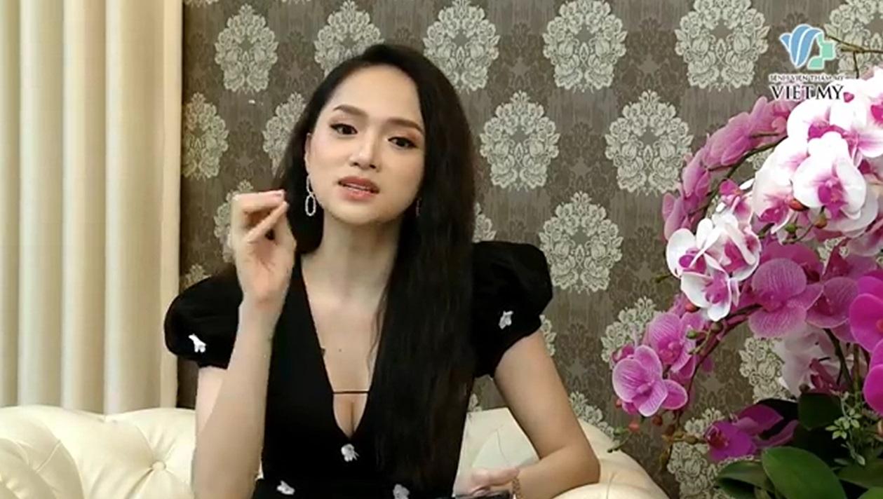 Hoa hậu Hương Giang cùng bác sĩ Chiêm Quốc Thái chia sẻ về nâng mũi.